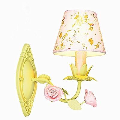 ... Murale Un Cadre Idyllique Appliques Tissus Fer Créatif Fleurs Et  Plantes Tête Simple Chambres Du0027enfants Chambre Lit Lampes De Lumière De  Lu0027allée D