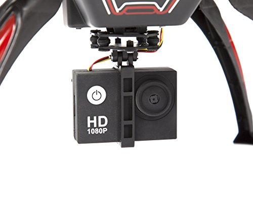 World Tech Toys Wraith Spy Drone Picture/Video Hi-Def 1080p Camera RC Drone, Black