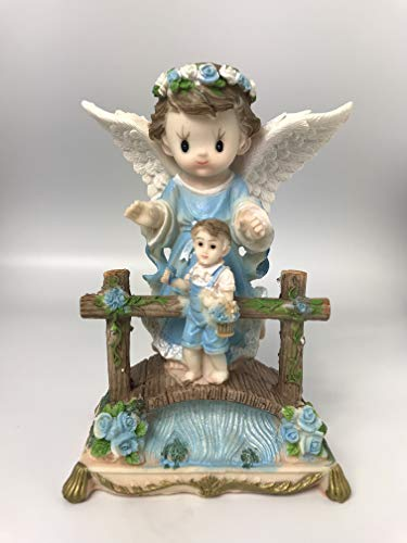 - VI N VI Guardian Angel Baptism Figurine (Blue)