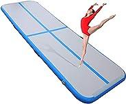 9.8 ft x 3.2 ft Inflatable Track Training Mat - LINKLIFE Air Gymnastics Mat Yoga Mat Floor Mat Fitness Exercis