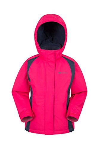 Mountain Warehouse Honey Kids Ski Jacket - Boys & Girls Winter Coat Dark Pink 2-3 Years