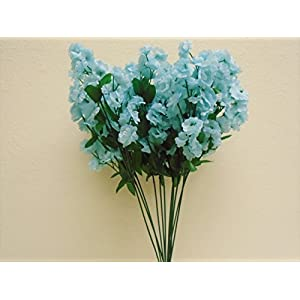"12 Sprays Ruffle Baby Breath Filler Artificial Silk Flowers 15"" Stem 331 4"