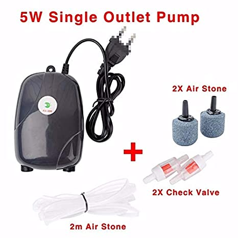 Fincos Aquarium Air Pump Fish Tank Mini Silent Compressor Single Double Outlet Oxygen Pumps Aquariums Aquatic