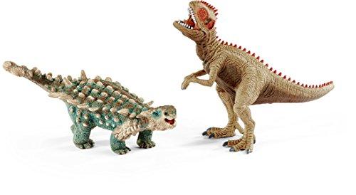 Giganotosaurus Dinosaur (Schleich North America Saichania & Giganotosaurus Toy Figure, Small)