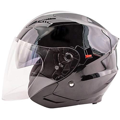 ZOX Unisex Adult Journey Gloss Black Open Face Helmet 88-33634