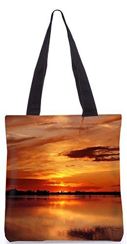 """Snoogg Blick Auf Den Sonnenuntergang Einkaufstasche 13,5 X 15 In """"Einkaufstasche Dienstprogramm Trage Von Polyester Canvas"""
