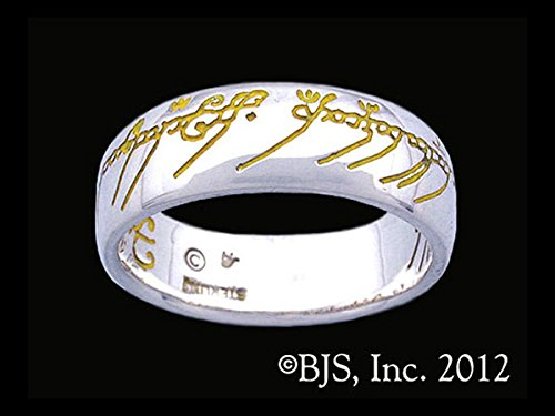 The One Ring of Power Lord of the Rings The Ruling Ring Yellow Script in Sterling (Ruling Ring)