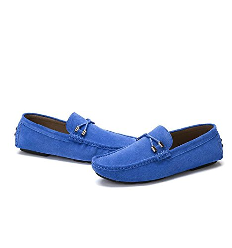 Camel Mens Moccasin-gommino Slipper Driving Moccasin Casual Loafers Boat Shoes Blue 2H4khROFn