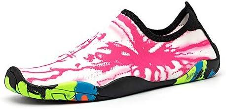アウトドアビーチシューズ女性と男性のスイミングシューズダイビングシューズシュノーケリングシューズ速乾性水上流の靴ピンク+白 ポータブル (色 : Pink, Size : US9)
