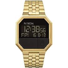 Nixon Re-Run A158502-00. Men's Digital Gold Watch (38.5mm Digital Watch Face. 13-18mm All Gold Band)