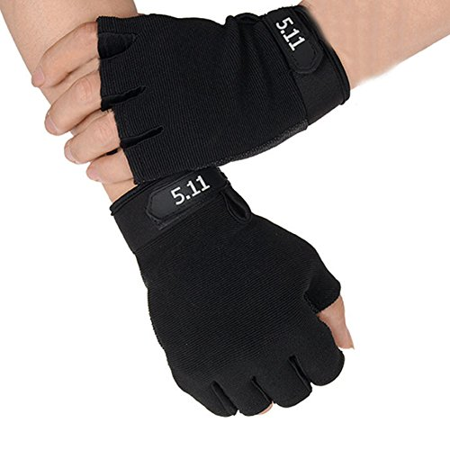 T-JULY Half-finger Fitness Weight Lifting Gloves Workout Gym Bodybuilding Crossfit Training Wrist Support