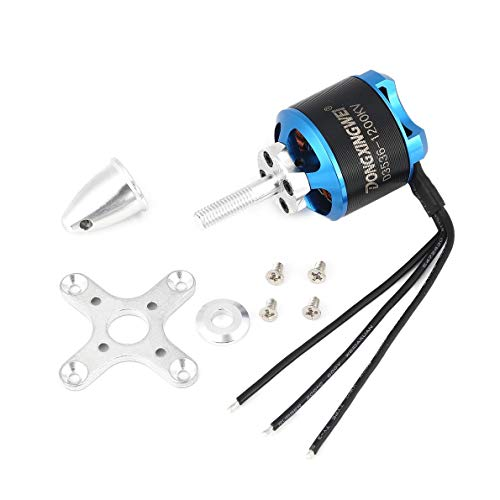 Crispsound DXW D3536 1200KV 2-4S Brushless Motor for RC FPV Fixed Wing Airplane Aircraft 2000mm 2M Skysurfer FPV Glider Plane Spare Parts ()