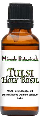 Miracle Botanicals Tulsi Holy Basil Essential Oil - 100% Pure Ocimum Sanctum - Therapeutic Grade - 30ml