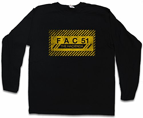 Fac 51 The Hacienda I Long Sleeve T Shirt   Fac51 Club Factory Records Joy Division Long Sleeve T Shirt