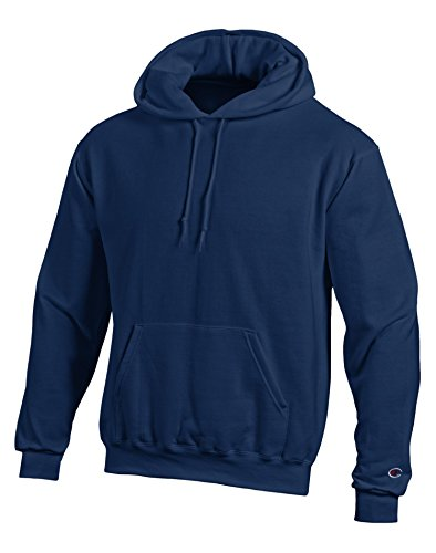 Champion Double Dry Action Fleece Pullover Hood (Navy, S)