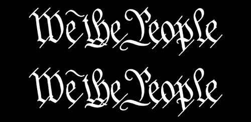 x2 We the People Decal Sticker Vinyl 8