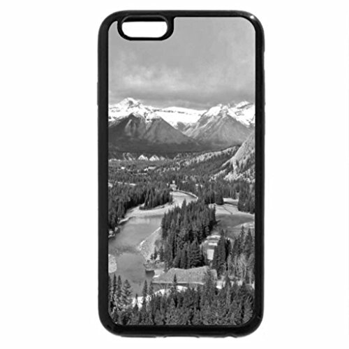 iPhone 6S Case, iPhone 6 Case (Black & White) - Bow River Flowing Through the Mountains