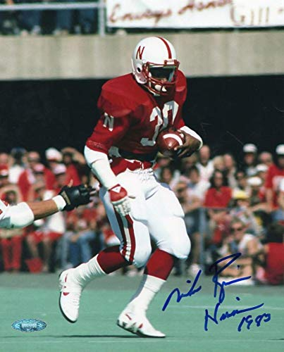 MIKE ROZIER NEBRASKA HEISMAN 1983 TRI STAR SIGNED AUTOGRAPHED 8X10 PHOTO W/COA -