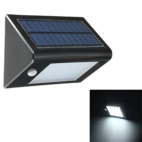 20 LED Solar Panel Sensor Light Outdoor Waterproof IP65 Fence Wall Garden - America Eyeglasses Of Mall