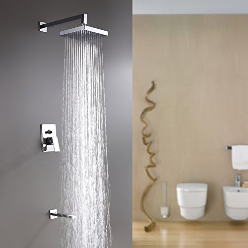 Bathroom Faucet Set Finish (Lightinthebox Contemporary Chrome Brass Finish Bathroom Lavatory Rainfall Shower Set Shower Head. Zinc Alloy Shower Handles Included)