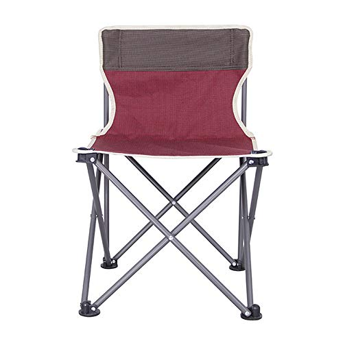 LLEH Camping Chair, Portable Folding Chair Compact Ultralight Folding Backpacking Chairs for Outdoor, Camp, Picnic, Hiking, Supports 260 lbs,Red (Ki Folding Chair)