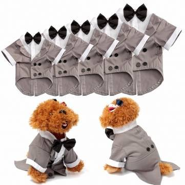 Pet Dog Cat Puppy Wedding Suit Clothes Tuxedo