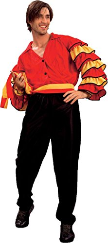 Mens Fancy Party Dress Flamenco Latin Carnival Spanish Rumba Man Costume Outfit (Mens Carnival Costumes)