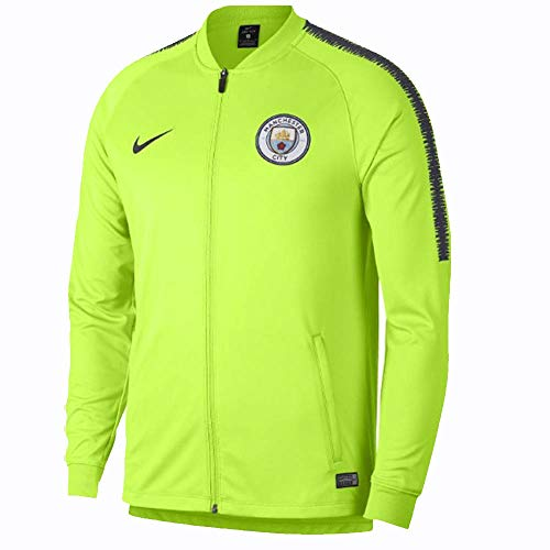 Nike 2018-2019 Man City Squad Track Jacket (Volt) ()
