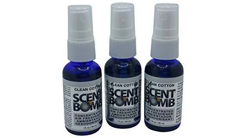 Scent Bomb Air Freshener: Clean Cotton (3 Pack) by Scent Bomb
