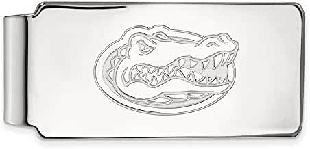 Sterling Silver LogoArt Official Licensed Collegiate University of Florida (UF) Money Clip