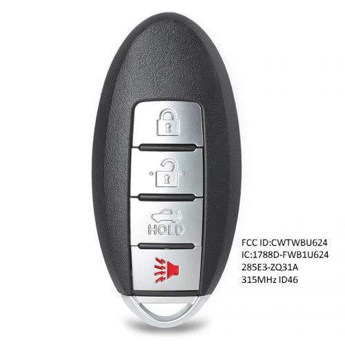 Keyecu Replacement Remote Control Key Fob 315Mhz for Nissan Armada 2008-2015 FCC CWTWBU624