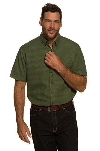 JP 1880 Homme Grandes tailles Chemise manches courtes kaki 7XL 705569 44-7XL