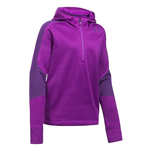 - Under Armour Girls' ColdGear Reactor Fleece 1/2 Zip Hoodie,Purple Rave (959)/Indulge, Youth Large