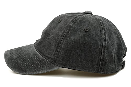 Guoo Men Women Cotton Adjustable Washed Twill Low Profile Plain Baseball Cap Hat
