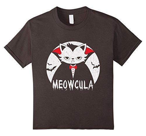 Kids Meowcula Vampire Cat Halloween Dracula Kids T-Shirt 4 (Vampire Cat Costume For People)