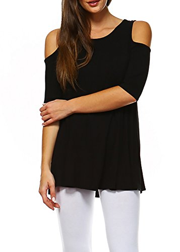 eedb74c896142 Amie Finery Cold Shoulder Tops For Women Open Shoulder Tunic Tops For  Leggings Made In USA - Buy Online in UAE.