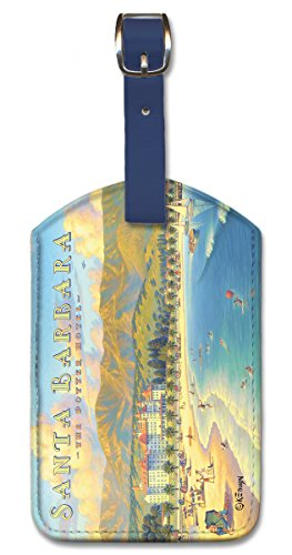 (Pacifica Island Art Leatherette Luggage Baggage Tag - Santa Barbara by)