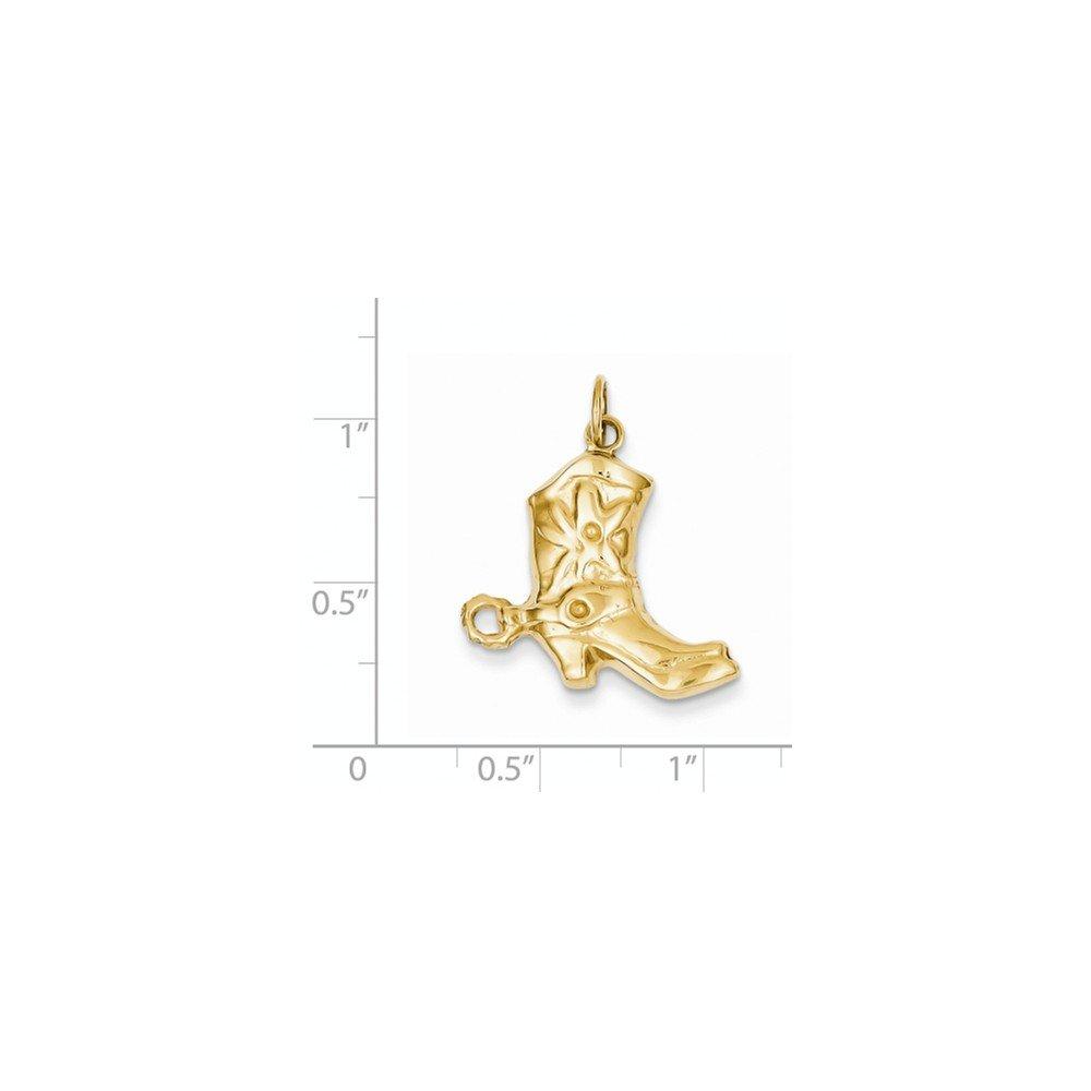 Diamond2Deal 14k Yellow Gold Boot Pendant