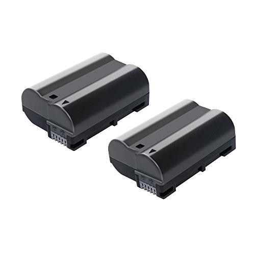 Bonadget 2 Pack Power Battery for Nikon EN-EL15 D7000 D7100 D750 D7200 D800 D750 D610 D7200 battery (2 Pack, 2000mAh)