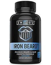 Zhou Nutrition Iron Beard Beard Growth Vitamin Supplement for Men - 60 Capsules