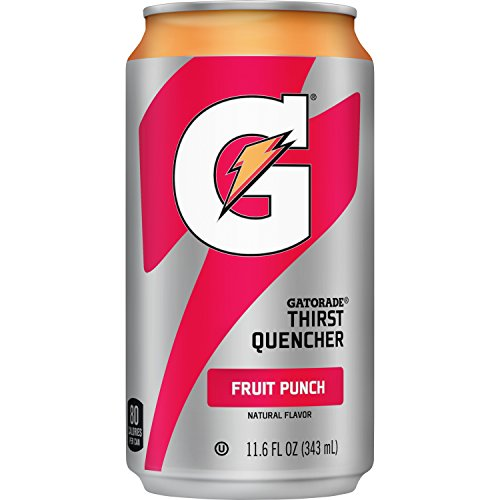 Gatorade Thirst Quencher, Fruit Punch, 24 Count, 11.6 oz Cans