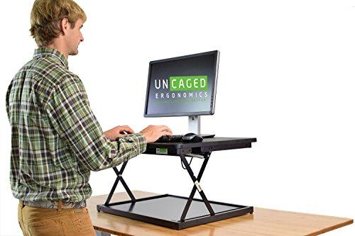 (CHANGEdesk Mini Small Adjustable Height Standing Desk Converter for Laptop MacBook Single Monitor Desktop Computer Portable Lightweight Ergonomic sit Stand up Corner Riser Affordable Compact Tabletop)