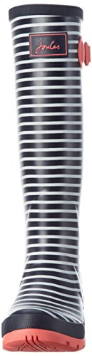Joules Women's Wellyprint Wellington Boots Blue (Navy Mini Stripe) x6xDzCQ2XL