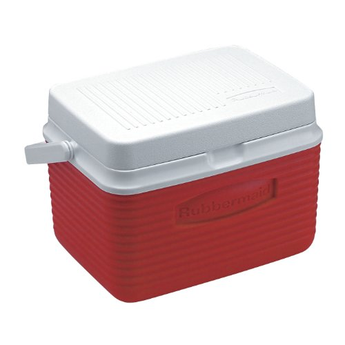 English Chest - Rubbermaid Cooler, 5 Quart, Red FG2A0904MODRD
