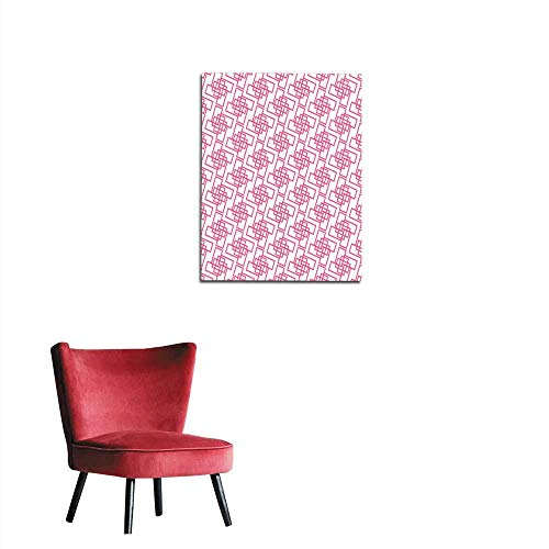 longbuyer Corridor/Indoor/Living Room Seamless Abstract Pattern from Rectangle Intersections Mural 20