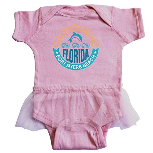 inktastic - Fort Myers Beach Florida Infant Tutu Bodysuit 18 Months Pink 36908 - Fort Myers Pink Girl
