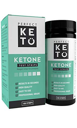 Perfect Keto Ketone Test Strips (100 Pack), for Ketogenic, Paleo, Atkins