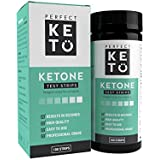 Perfect Keto Ketone Test Strips (100 Pack), for Ketogenic, Paleo, Atkins and Low Carb Diets. Premium Quality Ketosis Testing Strips.