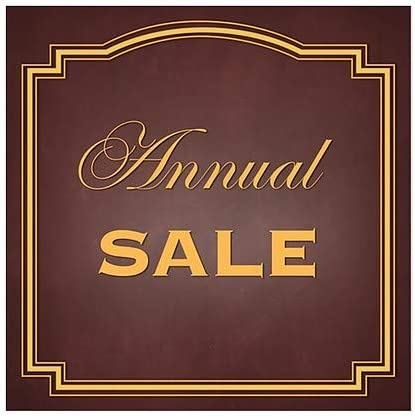 Annual Sale Classic Brown Window Cling 5-Pack CGSignLab 24x24