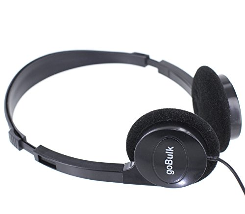 20 Quantity - Hi-Fi Stereo Headphone (Great for School & Library, H5) by goBulk